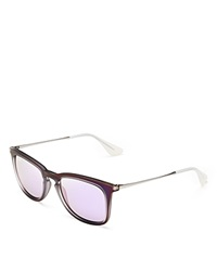 Ray Ban Rubber Iridescent Wayfarer Sunglasses Purple Purple Mirror