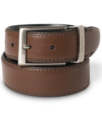 Nautica Saddle Leather Reversible Belt Brown Black