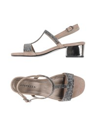 Apepazza Footwear Sandals Women Light Grey