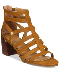 Tommy Hilfiger Cathy Gladiator Sandals Women's Shoes Luggage