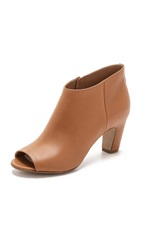 Maison Martin Margiela Low Curve Heel Booties Light Brown