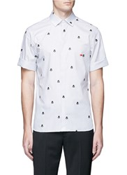Neil Barrett 'Darth Vader' Print Stripe Short Sleeve Shirt Multi Colour