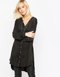 Vero Moda Shirt Dress With Embroidered Back Detail Blackwashed