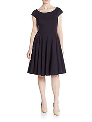 Milly Ponte Jersey Fit And Flare Dress Navy