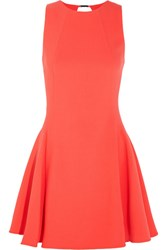 Halston Heritage Cutout Stretch Crepe Mini Dress Orange