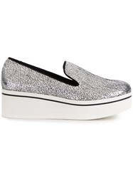 Stella Mccartney 'Binx' Slip On Loafers Metallic