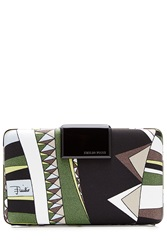 Emilio Pucci Printed Clutch Multicolor