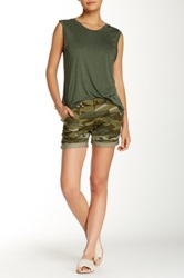 Jolt Camo Twill Short Juniors Green