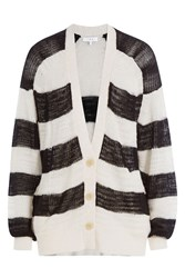Iro Striped Linen Blend Cardigan Stripes