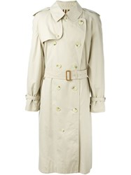 Burberry Vintage Long Trench Coat Nude And Neutrals