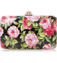 Dune Belle Hard Case Clutch Bag Black Synthetic