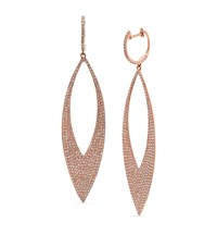 Kenza Lee Marquise Drop Earrings Female Rose Gold
