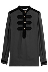 Philosophy Di Lorenzo Serafini Blouse With Velvet Detail Black