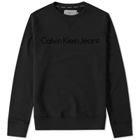 Calvin Klein Jeans Ck Reissue Crew Sweat Black