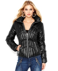 Guess Quilted Down Puffer Jacket Black