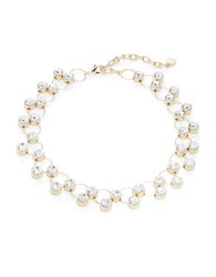 Rj Graziano Circle Linked Stone Necklace Gold