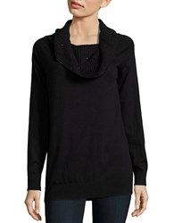 Michael Michael Kors Sequined Cowlneck Sweater Black