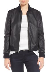 Bb Dakota Women's Alastair Faux Leather Bomber Jacket