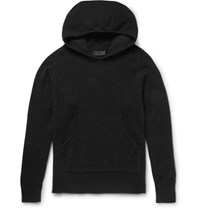 Haider Ackermann Overized Tretch Knit Hoodie Black