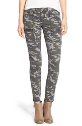 Junior Women's Sts Blue Camo Print Cargo Pants