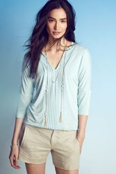 Anthropologie Pleat Line Top Mint