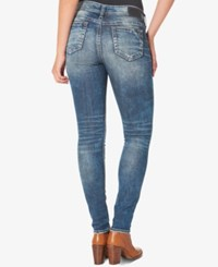 Silver Jeans Co. Elyse Medium Blue Wash Skinny Indigo