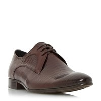 Dune Raptor Reptile Embossed Lace Up Shoes Burgundy