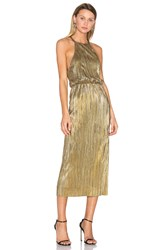 House Of Harlow X Revolve Farrah Dress Metallic Gold