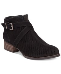 Vince Camuto Casha Perforated Booties Women's Shoes Black