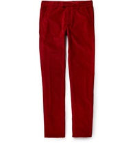 Michael Bastian Slim Fit Corduroy Trousers Red
