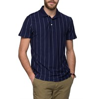 Gant Rugger Blue Pinstripe Polo Shirt