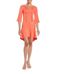 Rachel Zoe Lace Up Fit And Flare Dress