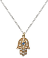Studio Silver Sterling Silver And 18K Gold Over Sterling Silver Necklace Hamsa Pendant