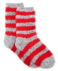 Charter Club Women's Marled Stripe Butter Socks Only At Macy's Red
