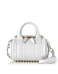 Alexander Wang Mini Rockie Peroxide Soft Pebbled Leather Satchel Bag White