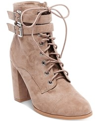 Madden Girl Klaim Combat Booties Women's Shoes Taupe