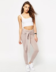 Asos Leggings With Tie Front Taupe