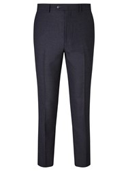John Lewis Crepe Tailored Suit Trousers Navy
