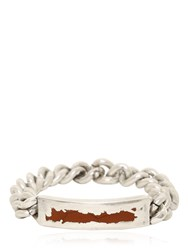 Maison Martin Margiela Metal Chain Bracelet With Resin Details