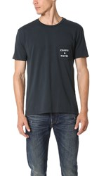Quality Peoples Coffee And Waves Pocket Tee India Ink