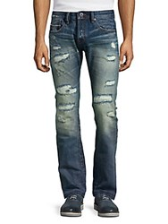 Cult Of Individuality Rebel Distressed Straight Leg Jeans Radiall