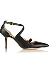 Rupert Sanderson Fanta Leather Pumps Black