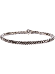 Christian Koban Diamond Snake Chain Bracelet Black