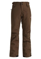Bench Makeshift Waterproof Trousers Dark Brown Green