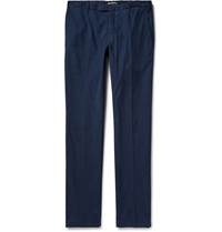 Boglioli Slim Fit Corduroy Trousers Blue