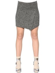 Etoile Isabel Marant Wrap Effect Stretch Wool Knit Skirt