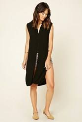 Forever 21 Longline Button Front Top