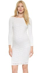 Ingrid And Isabel Boat Neck Lace Dress Winter White