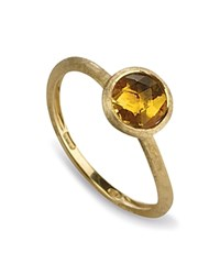 Marco Bicego Citrine Stackable Jaipur Ring Orange Gold