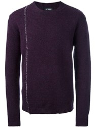Raf Simons Stitch Detail Jumper Pink And Purple